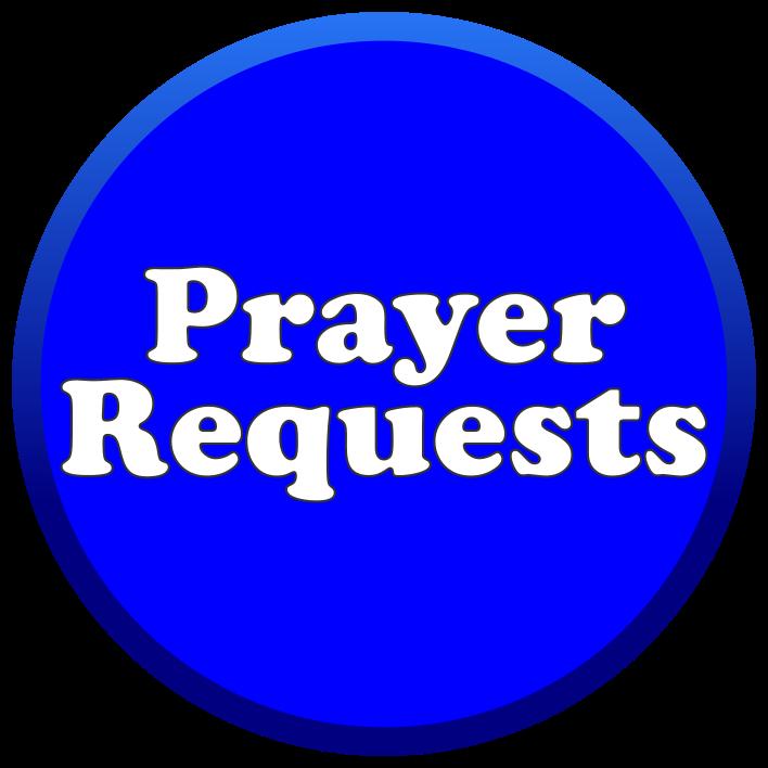 Blue Prayer Button